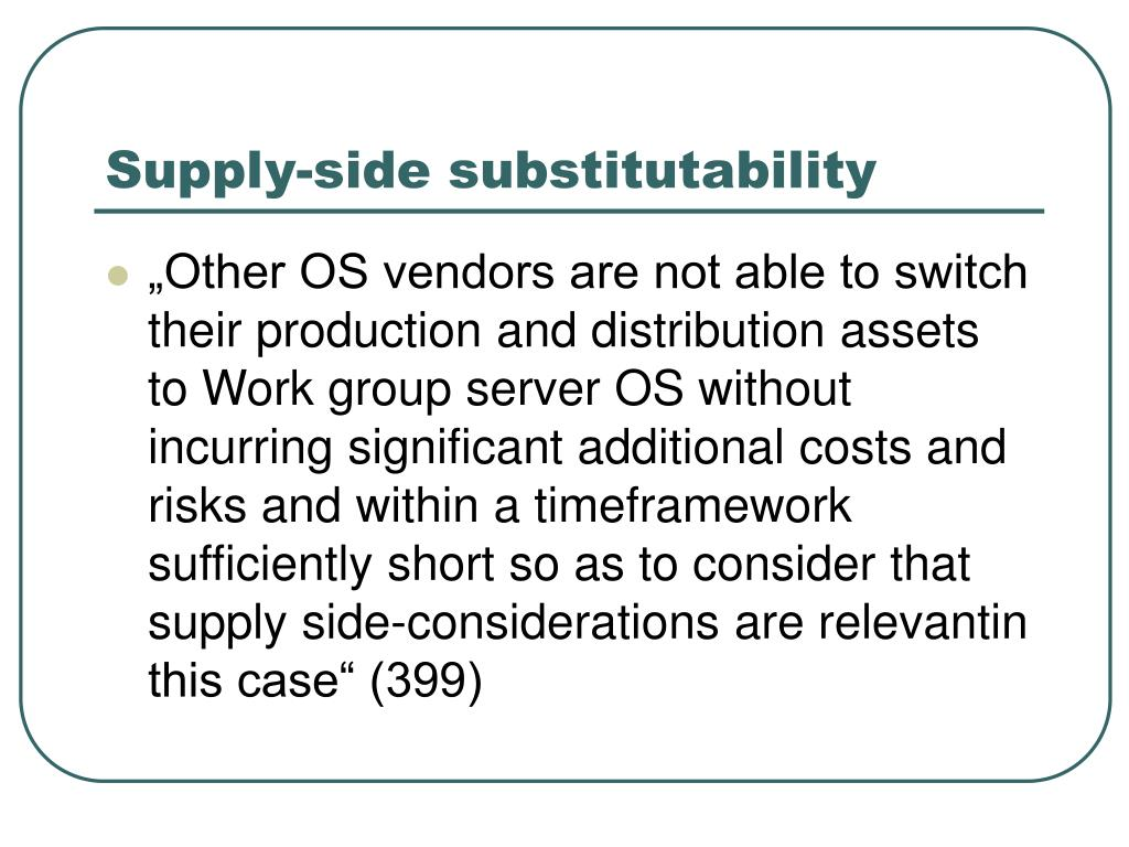 Supply-side substitutability