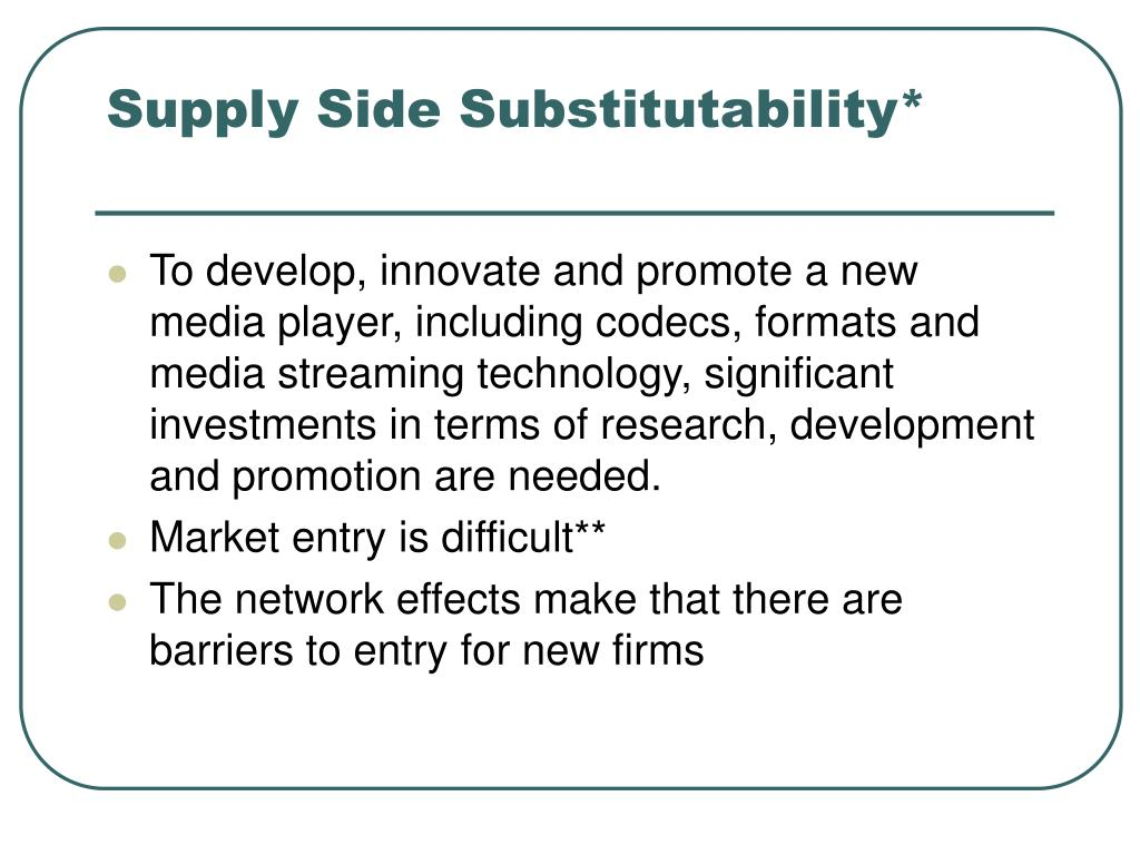 Supply Side Substitutability*