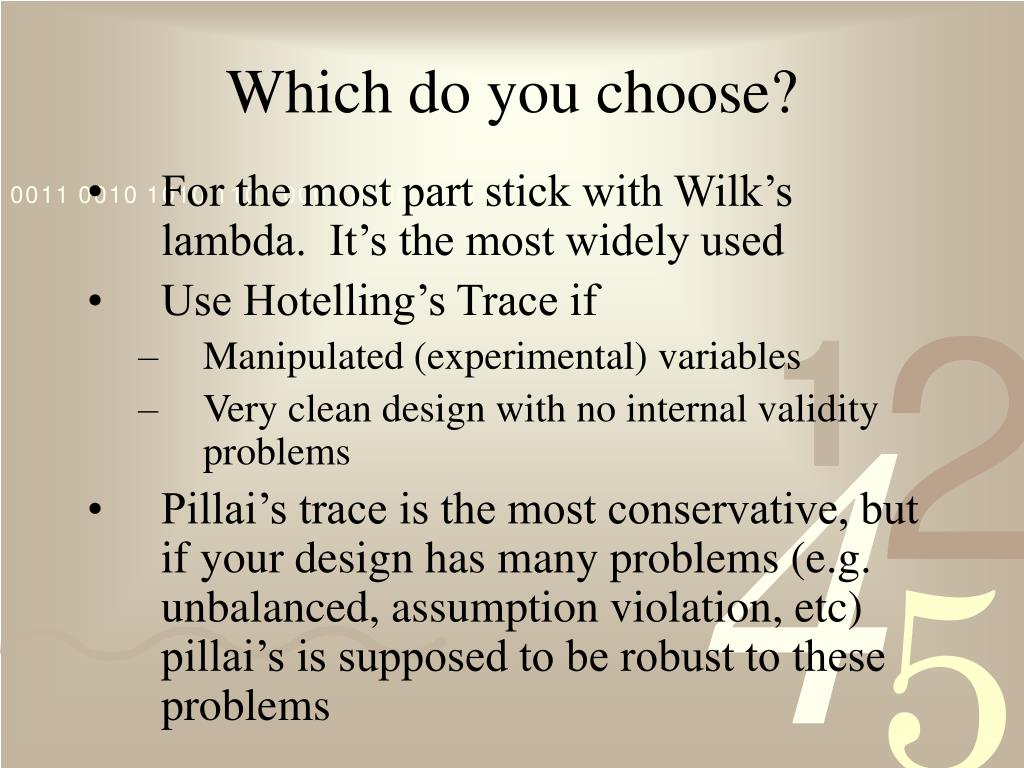 Which do you choose?