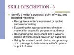 skill description 3