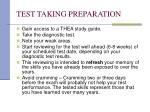 test taking preparation