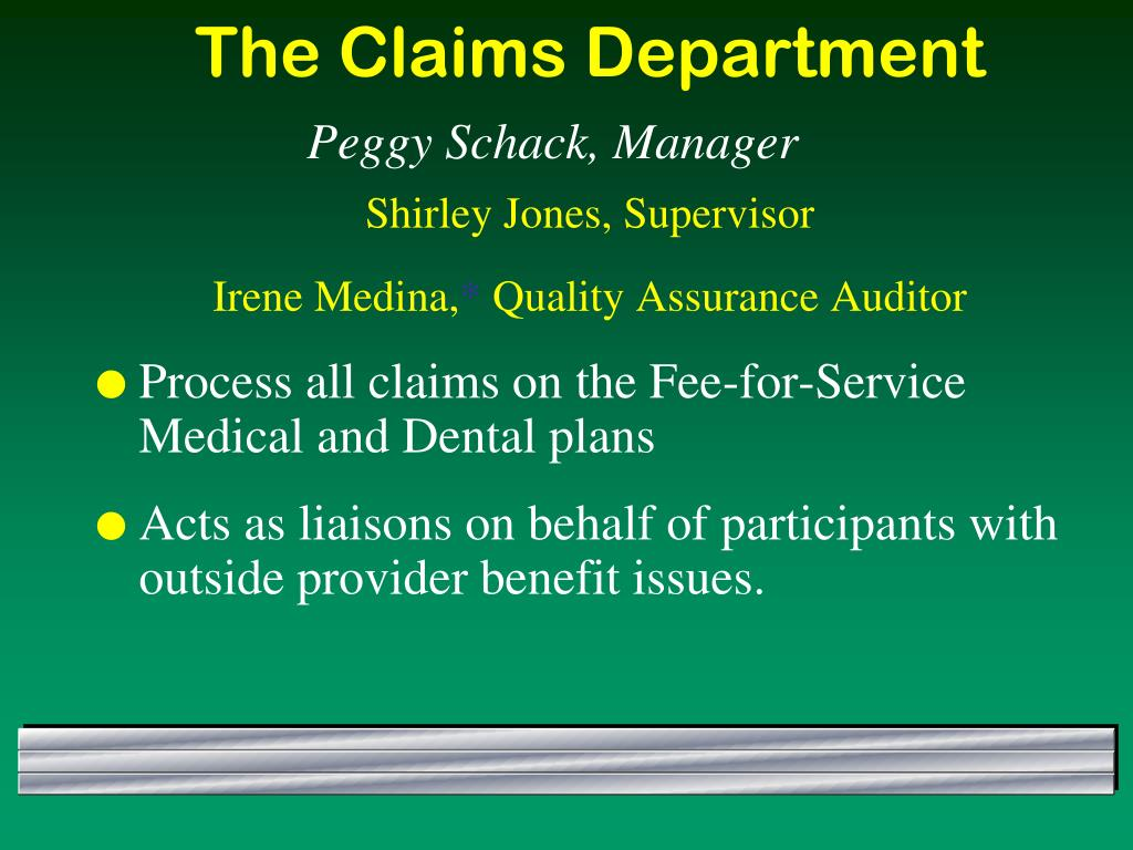 The Claims Department