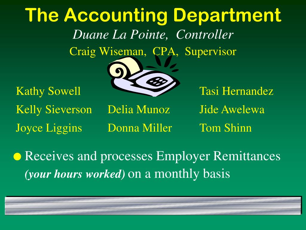 The Accounting Department