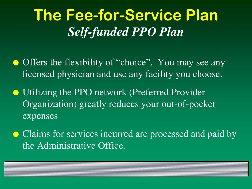 "Offers the flexibility of ""choice"".  You may see any licensed physician and use any facility you choose."