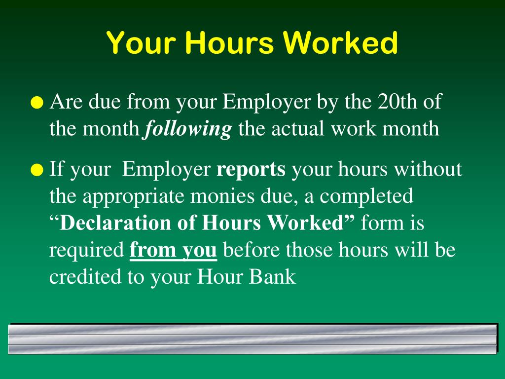 Your Hours Worked