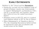 early extremists