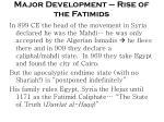 major development rise of the fatimids