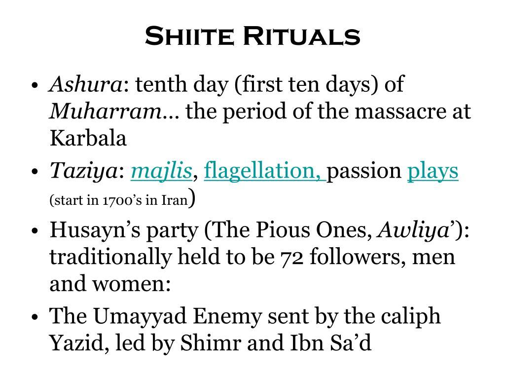 Shiite Rituals