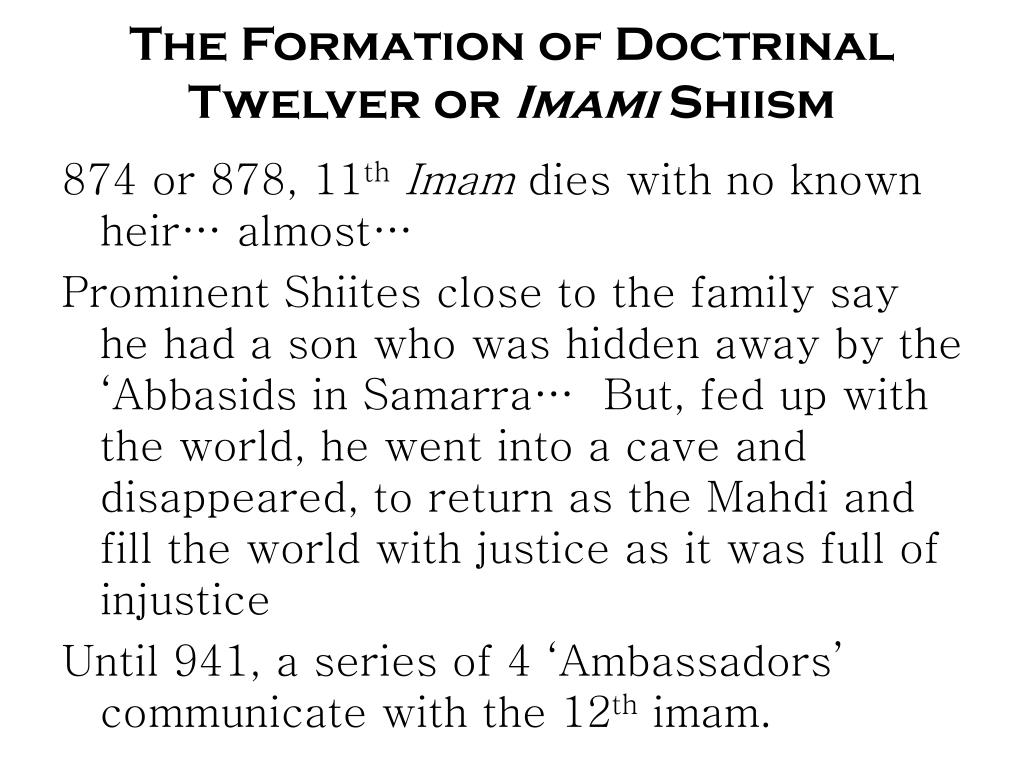 The Formation of Doctrinal Twelver or