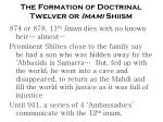 the formation of doctrinal twelver or imami shiism