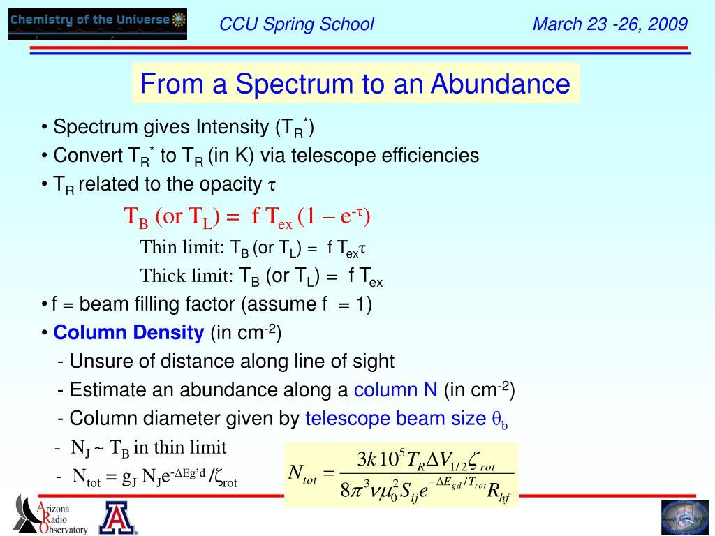 From a Spectrum to an Abundance
