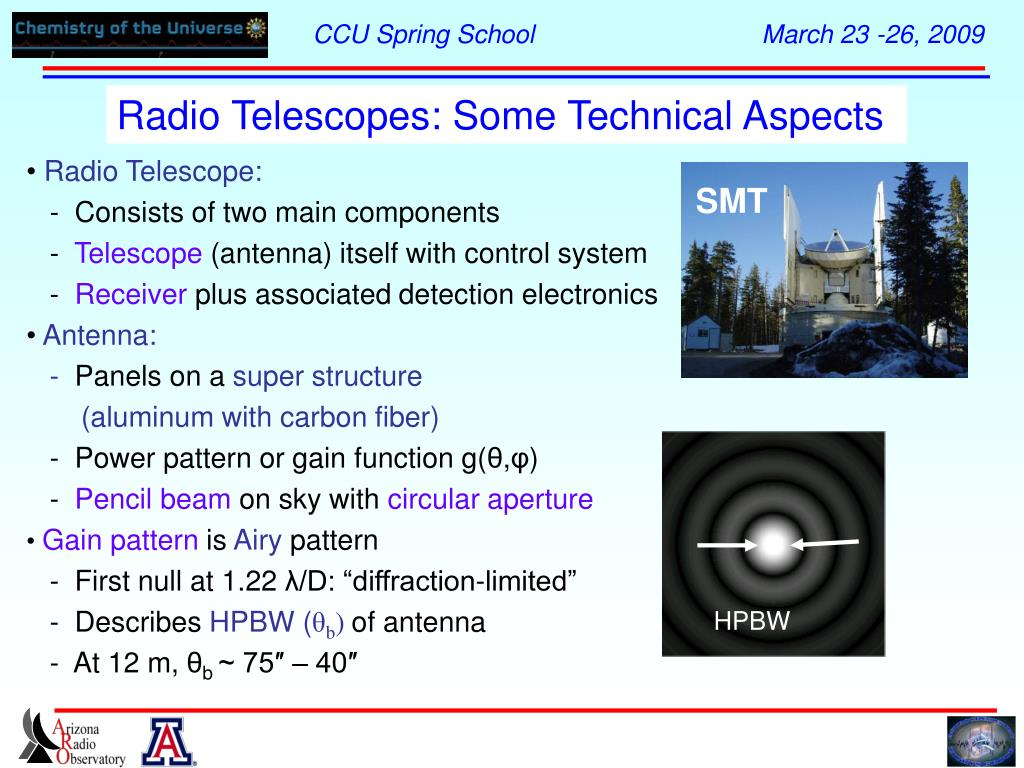Radio Telescopes: Some Technical Aspects