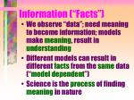 information facts
