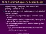 13 12 formal techniques for detailed design
