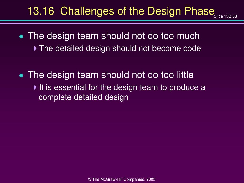 13.16  Challenges of the Design Phase