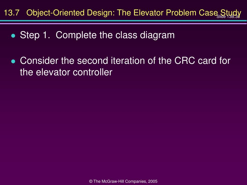 13.7   Object-Oriented Design: The Elevator Problem Case Study