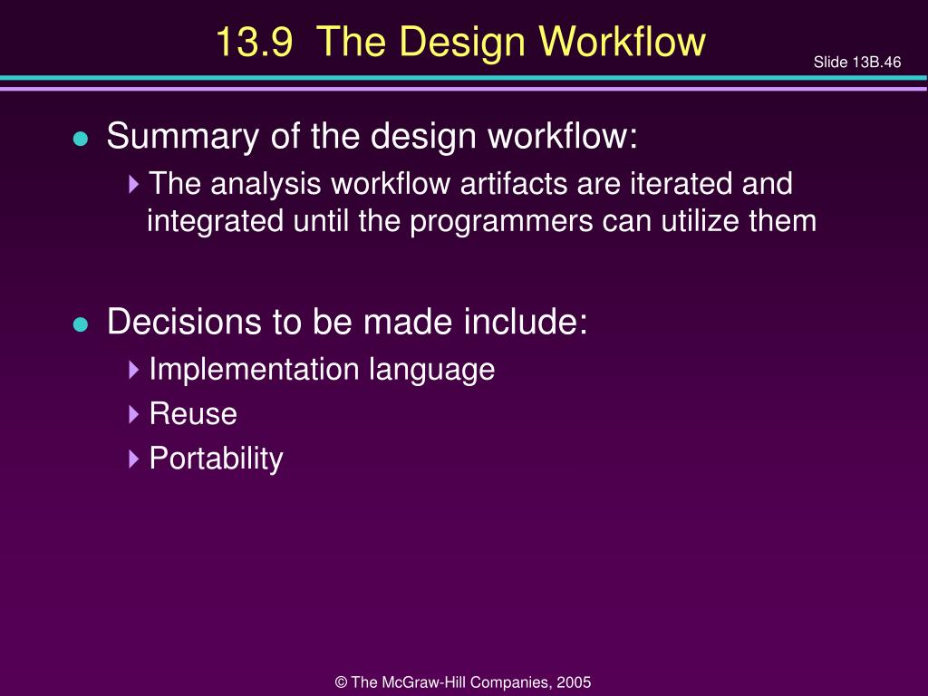13.9  The Design Workflow
