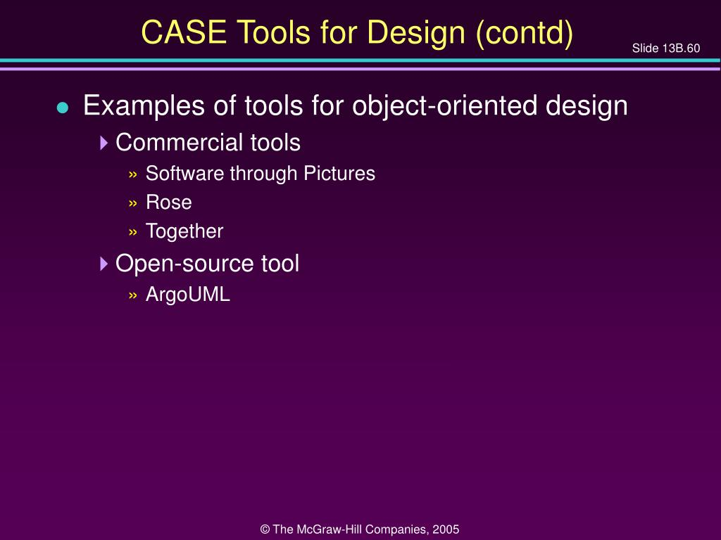 CASE Tools for Design (contd)