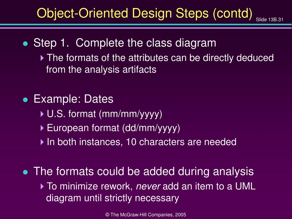 Object-Oriented Design Steps (contd)