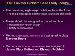 ood elevator problem case study contd15