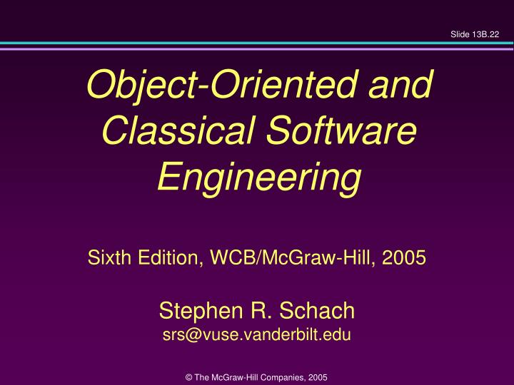 Object-Oriented and