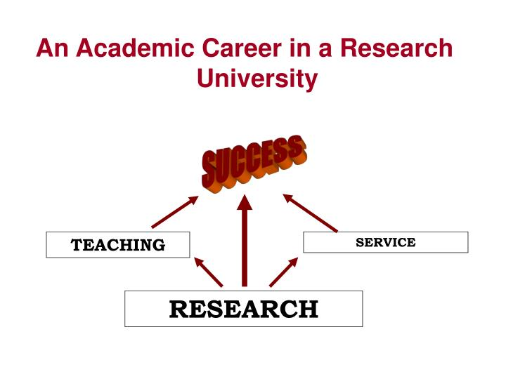 An Academic Career in a Research University