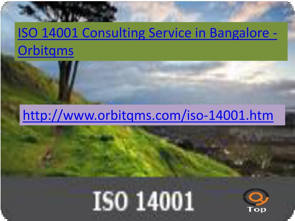 ISO 14001 Consulting Service in Bangalore - Orbitqms