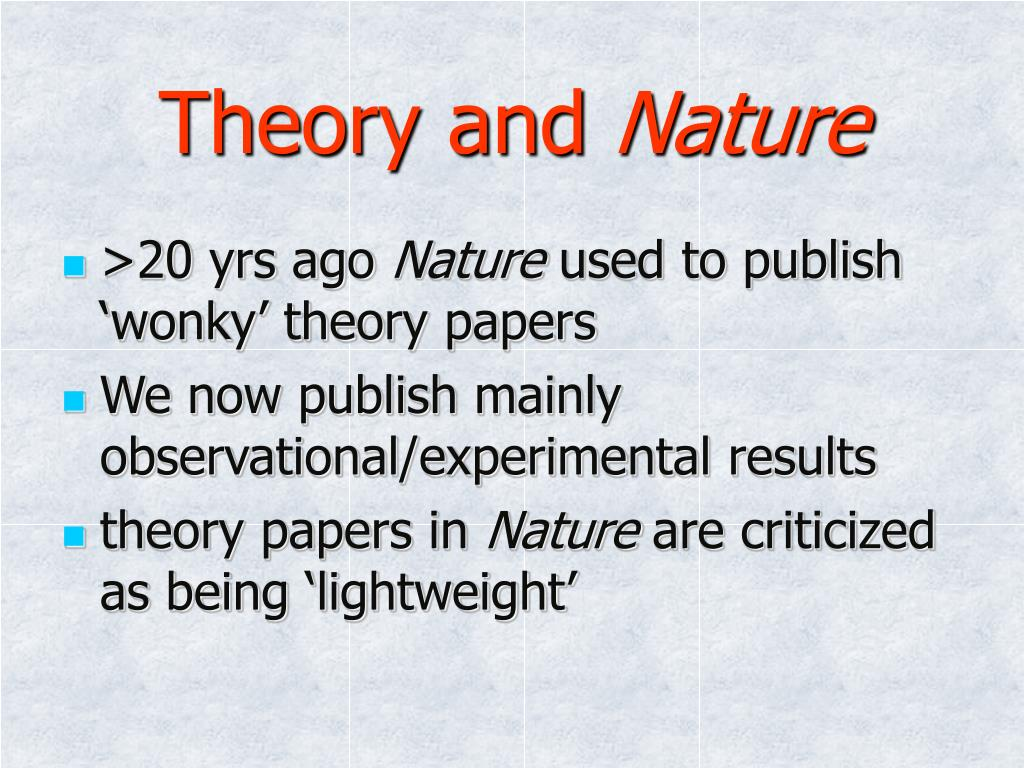 Theory and