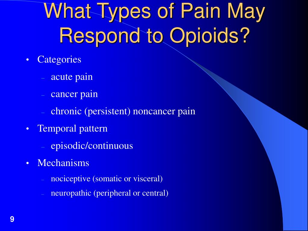 What Types of Pain May