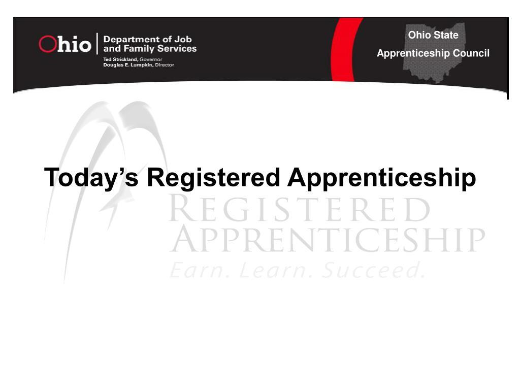Today's Registered Apprenticeship