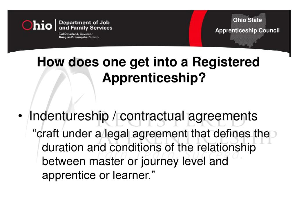 How does one get into a Registered Apprenticeship?