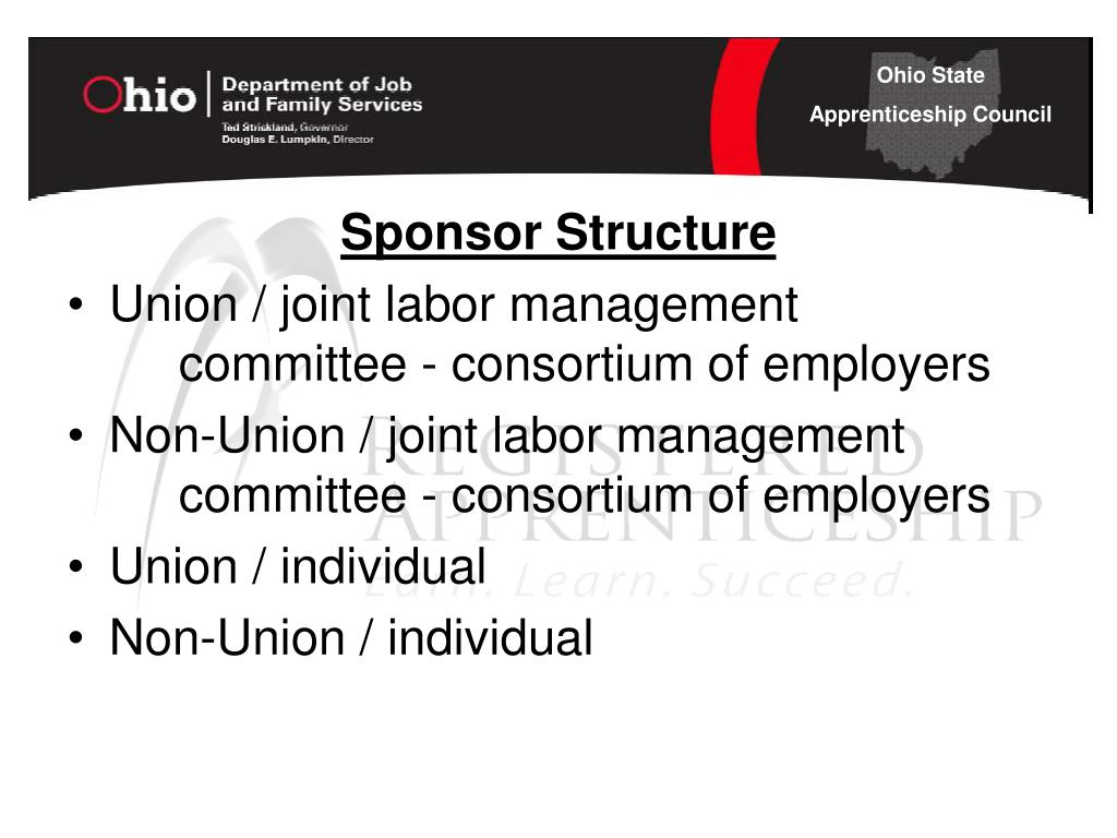 Sponsor Structure