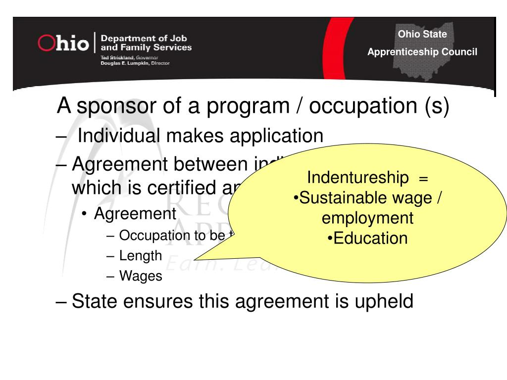A sponsor of a program / occupation (s)