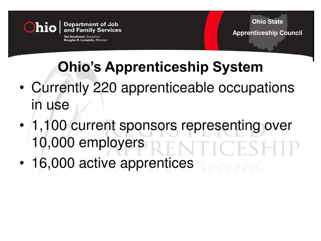 Ohio's Apprenticeship System