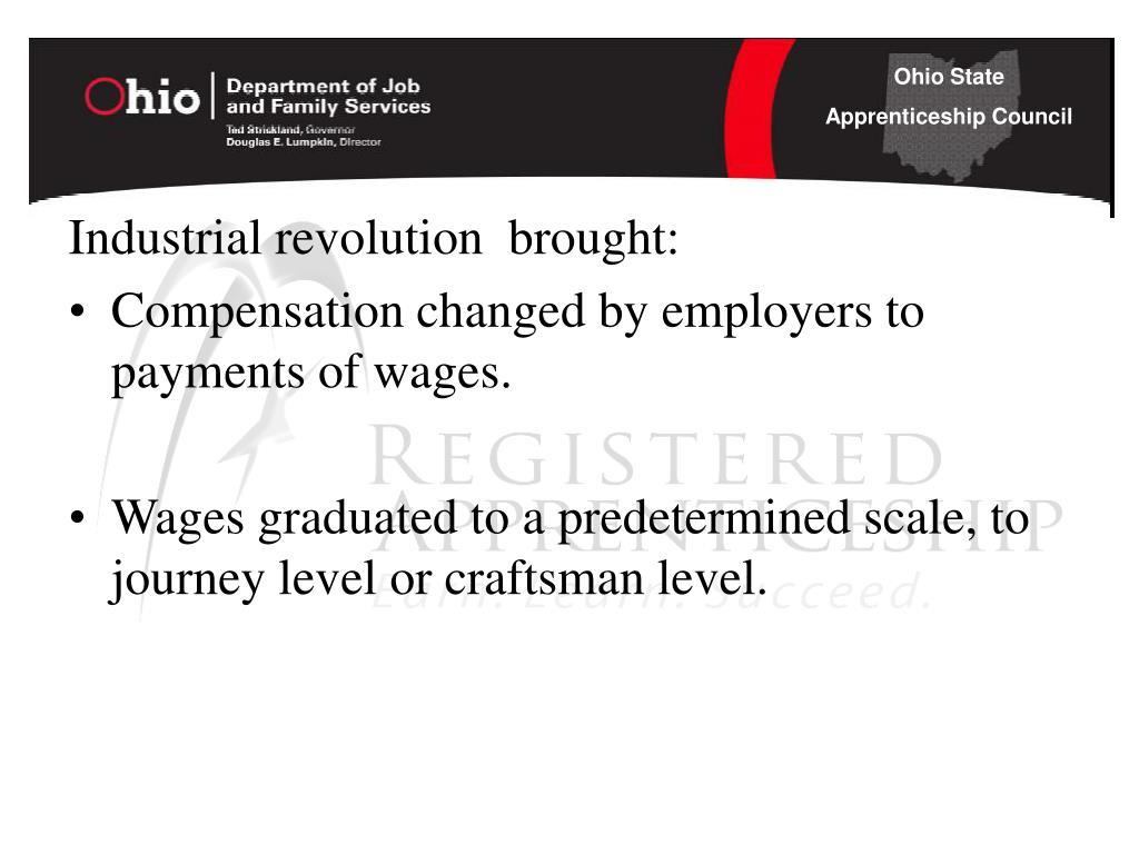 Industrial revolution  brought: