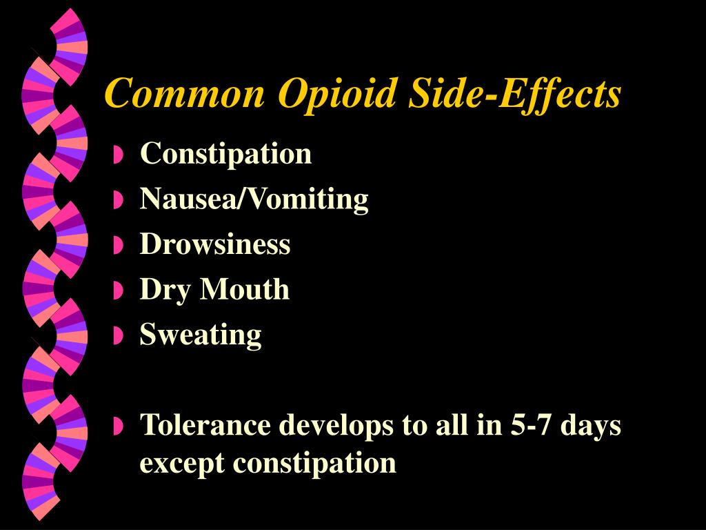 Common Opioid Side-Effects