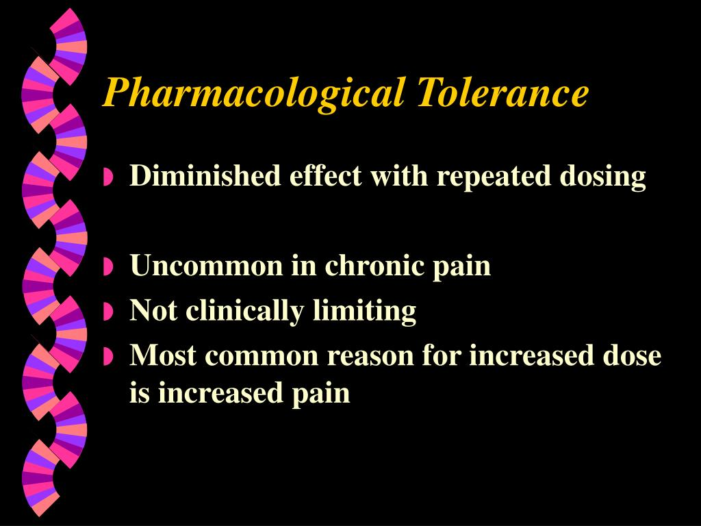 Pharmacological Tolerance