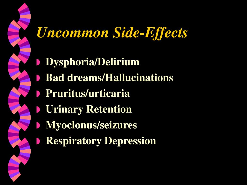 Uncommon Side-Effects