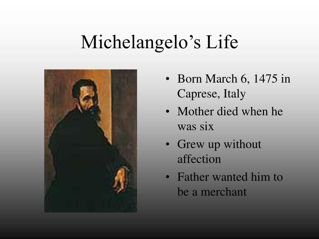 Michelangelo's Life