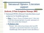intranasal opiates literature support14