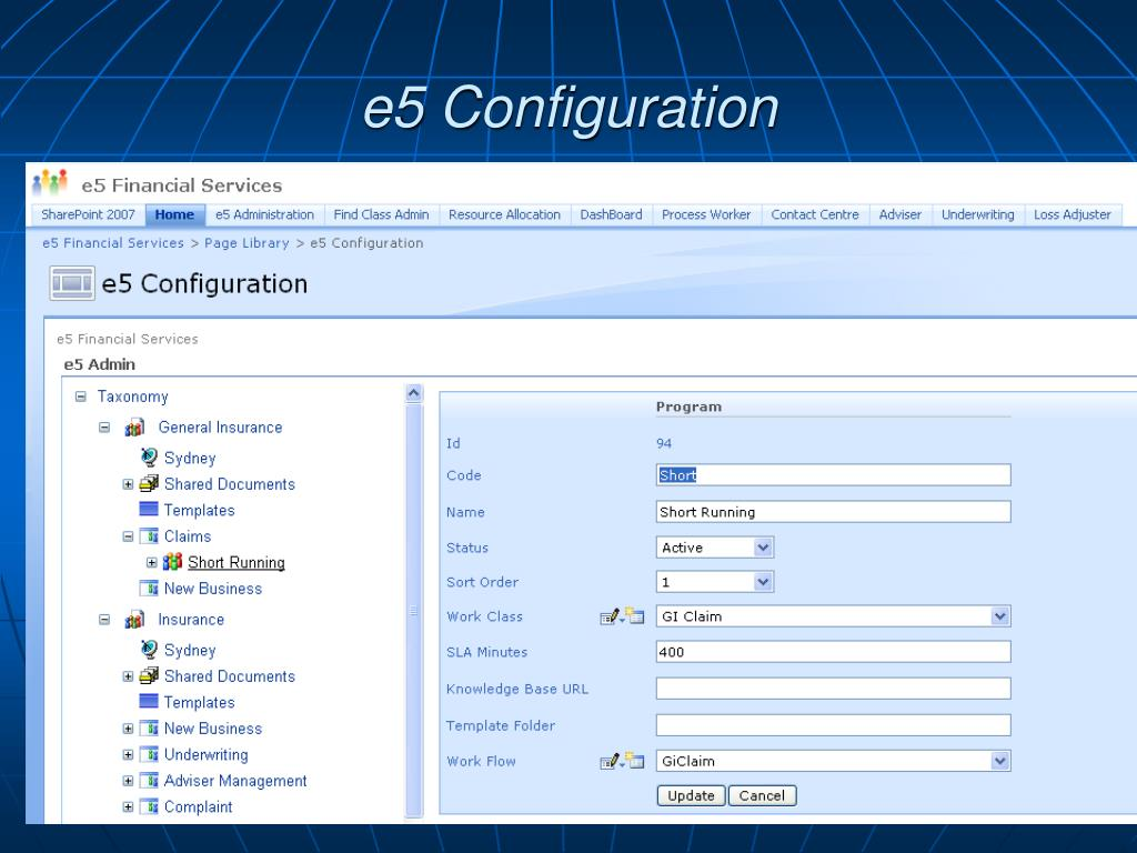 e5 Configuration