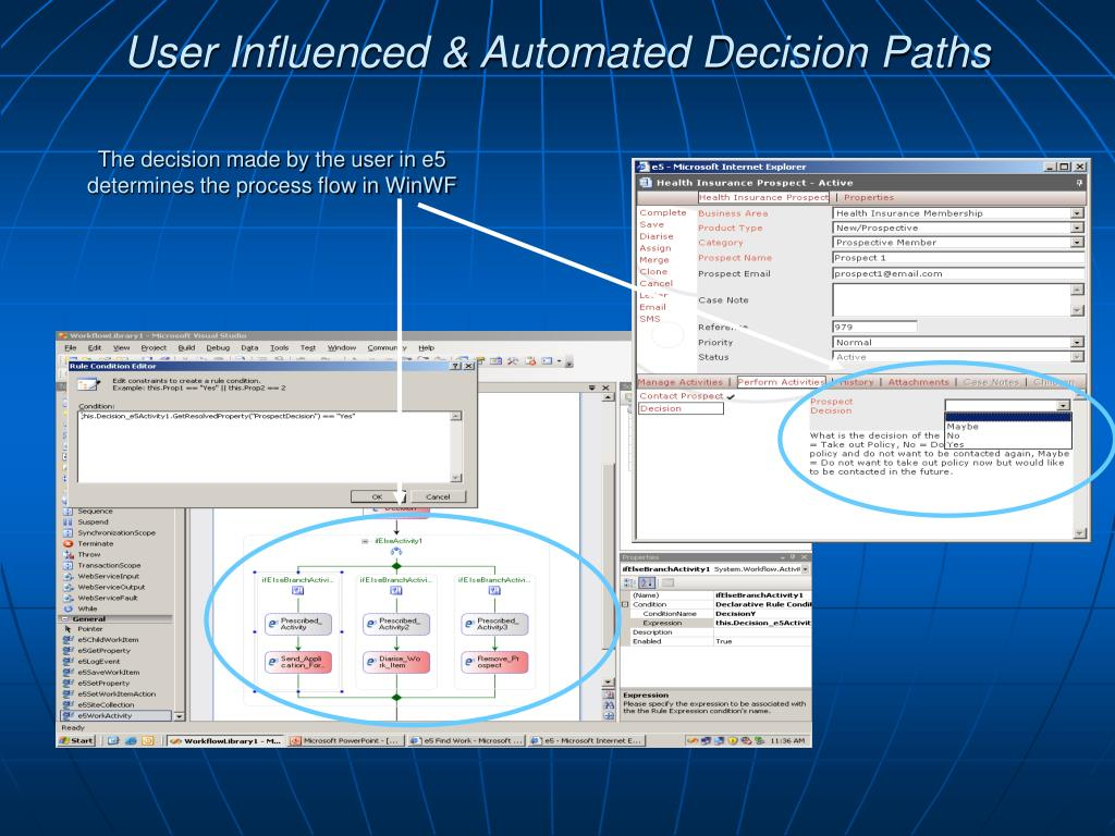 User Influenced & Automated Decision Paths