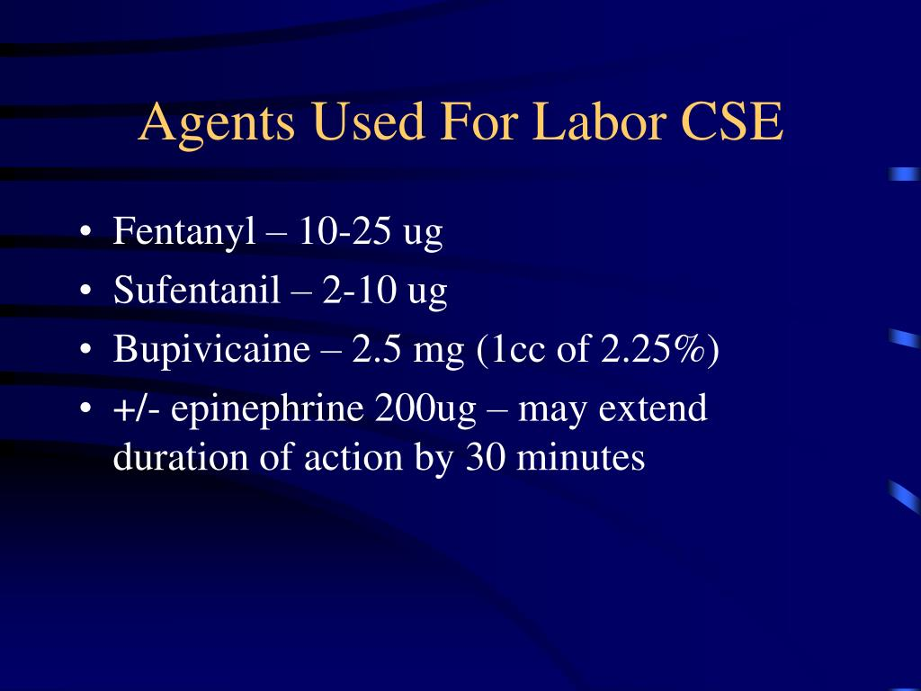 Agents Used For Labor CSE