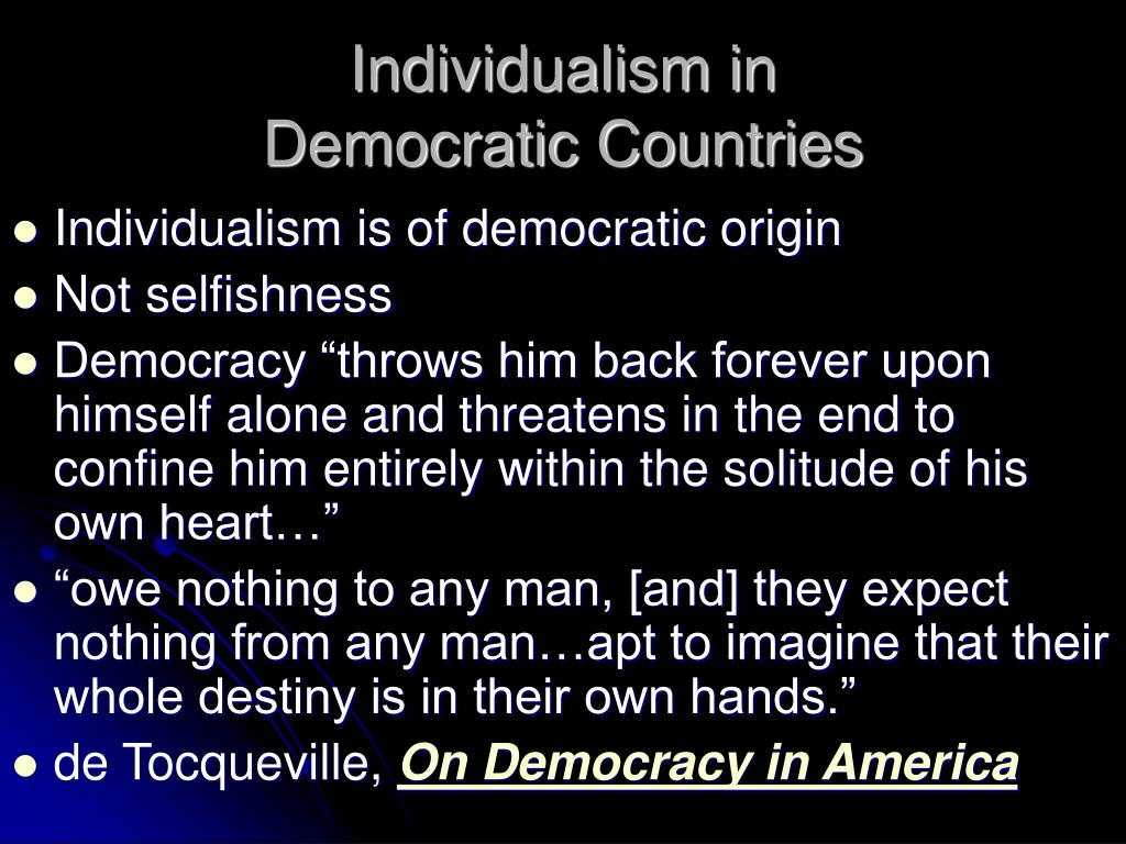 Individualism in