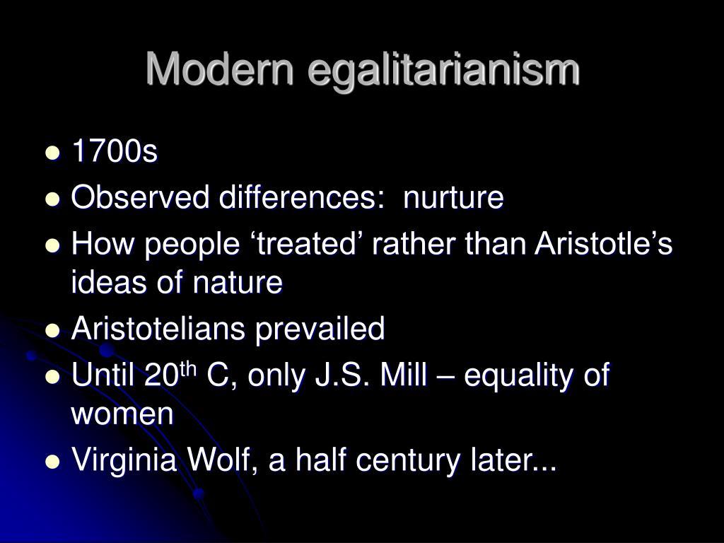 Modern egalitarianism