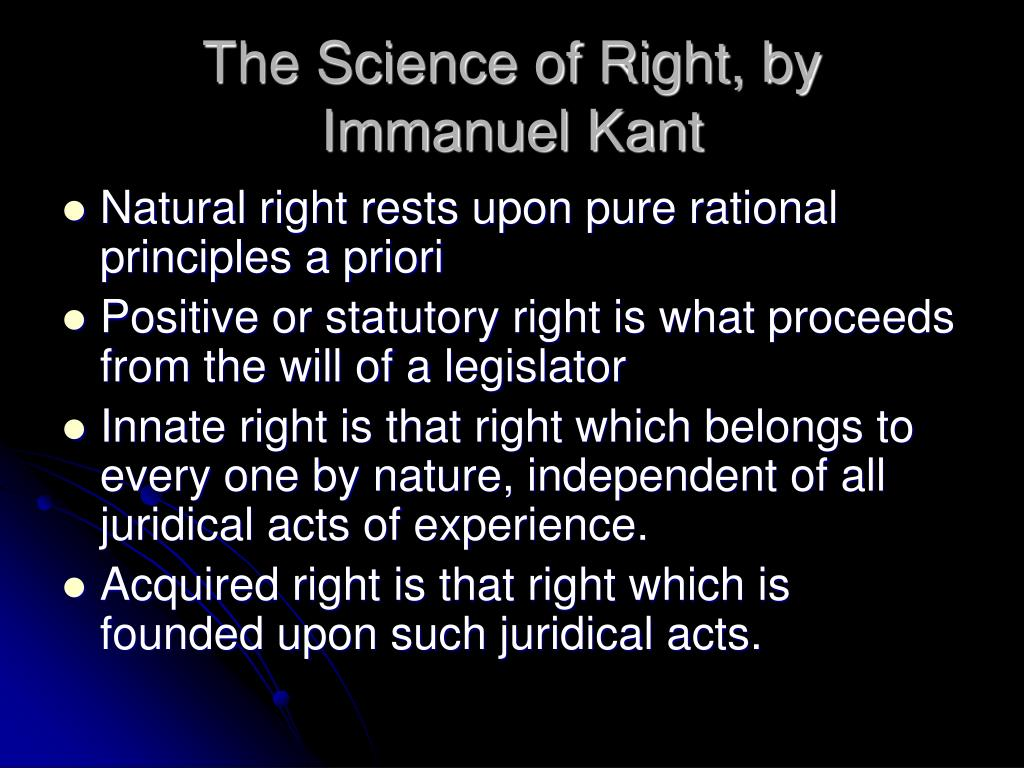The Science of Right, by
