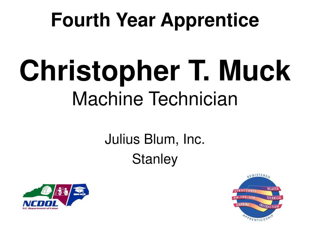 Fourth Year Apprentice