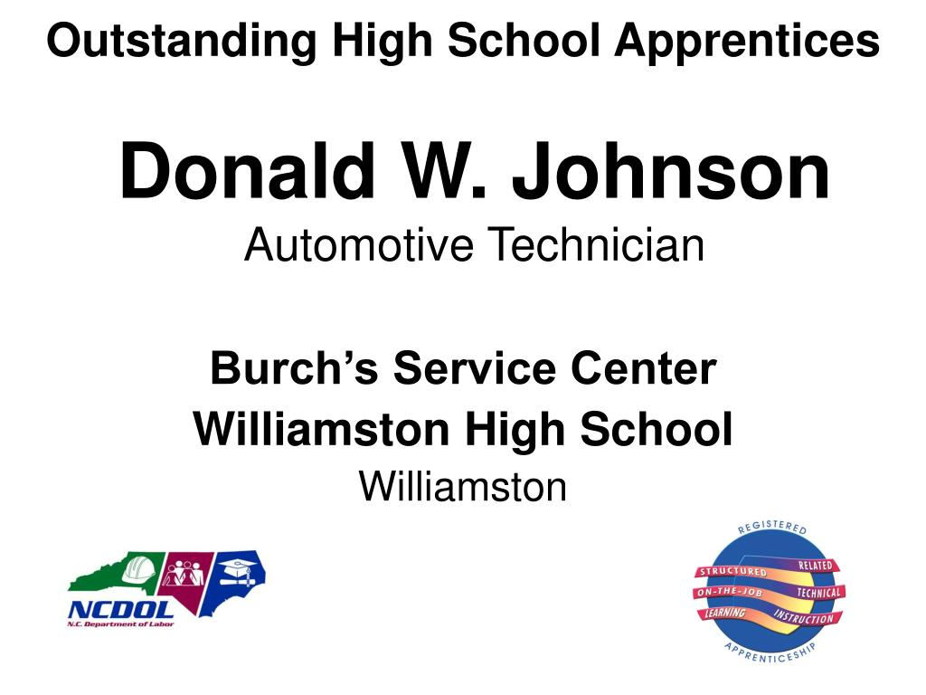 Outstanding High School Apprentices