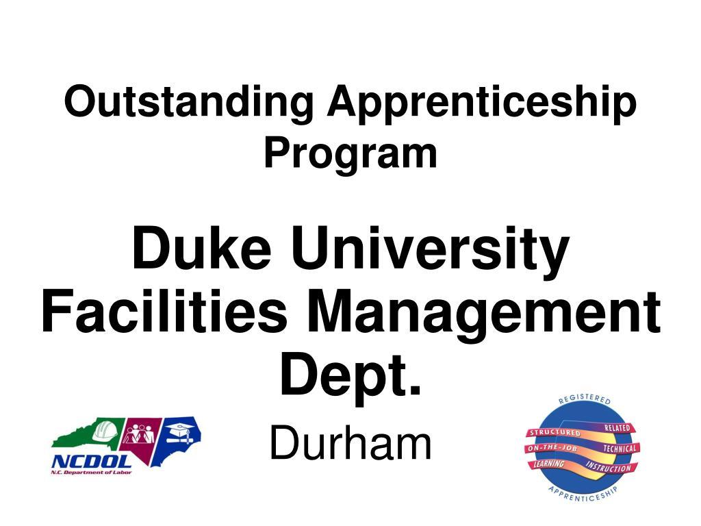Outstanding Apprenticeship Program