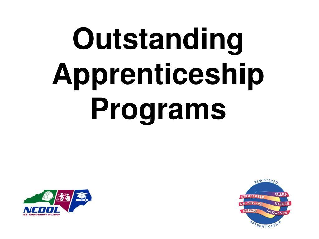 Outstanding Apprenticeship Programs